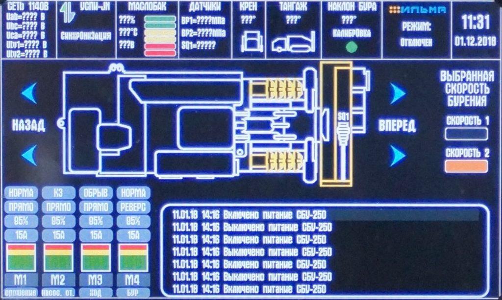 Пульт управления самоходной буровой устрановкой СБУ-250