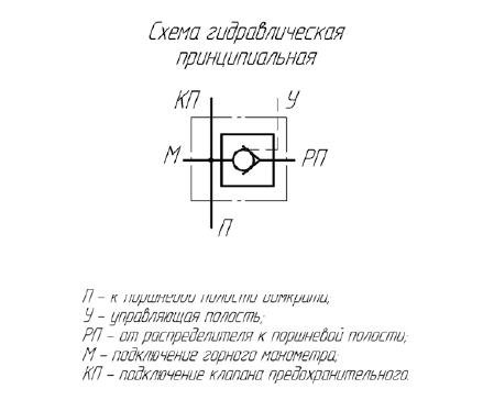 Гидрозамок стойки гидравлическая схема