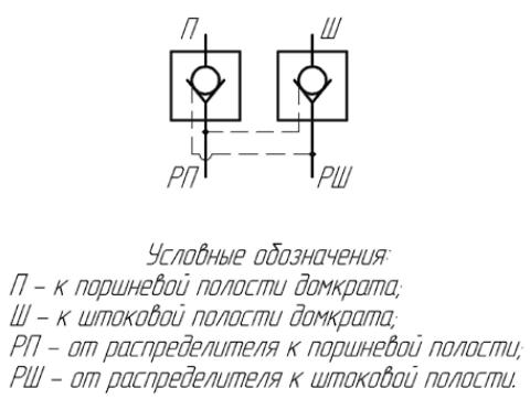Гидрозамок углового домкрата