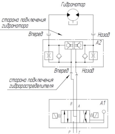 Гидрозамок хода схема подключения